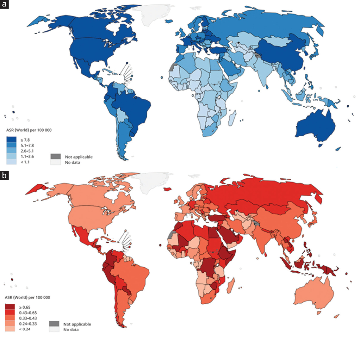 Epidemiology, incidence and mortality of thyroid cancer and ... on current cancer statistics map, abortion rate map, skin cancer map, obesity rate map, cancer incidence world map, us cancer map, death rate map, unemployment rate map, cancer death map, tuberculosis rate map,